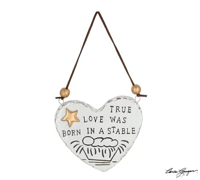 True Love Was Born Heart Ornament