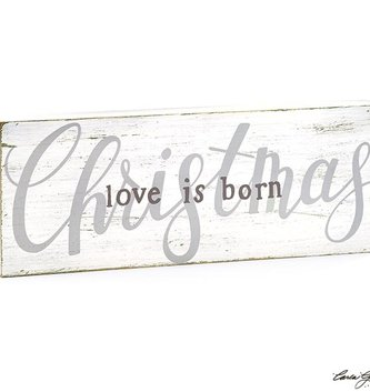 Love is Born Rustic Christmas Sign