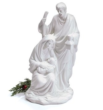 Porcelain White Holy Family Nativity