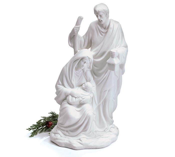 Porcelain White Holy Family Nativity
