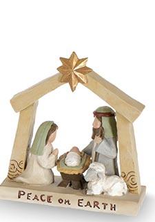 Small Tabletop Holy Family Nativity (3-Styles)