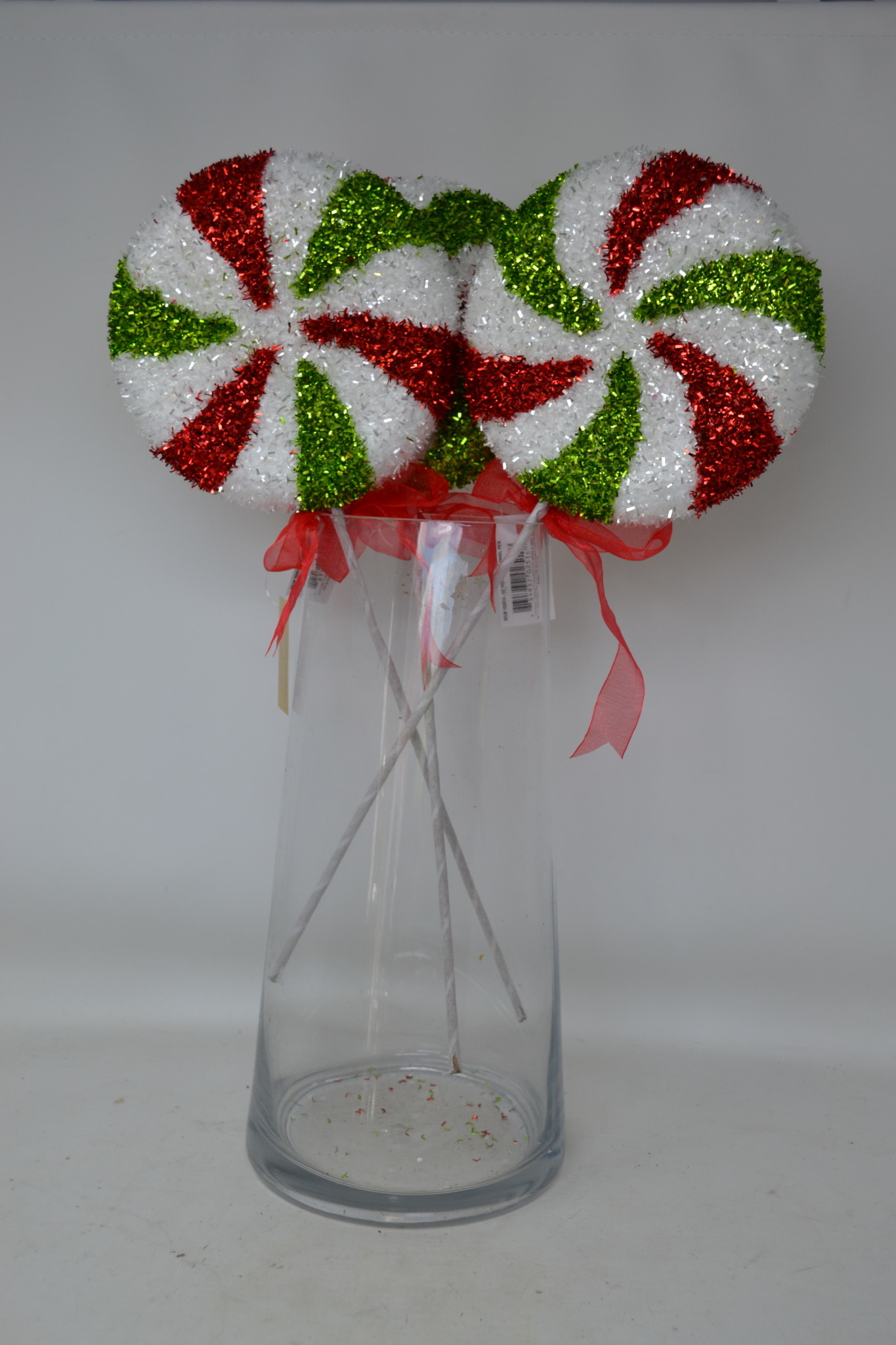 """16"""" Peppermint Candy Tinsel Pick"""