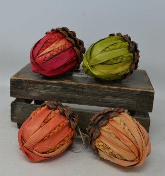 Rafia Pinecone Acorn (4-Colors)