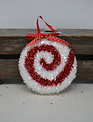 Peppermint Candy Tinsel Ornament (3-Styles)