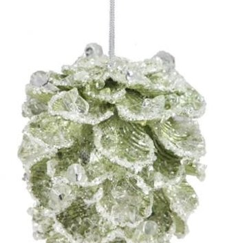 Jeweled Beaded Pinecone Ornament