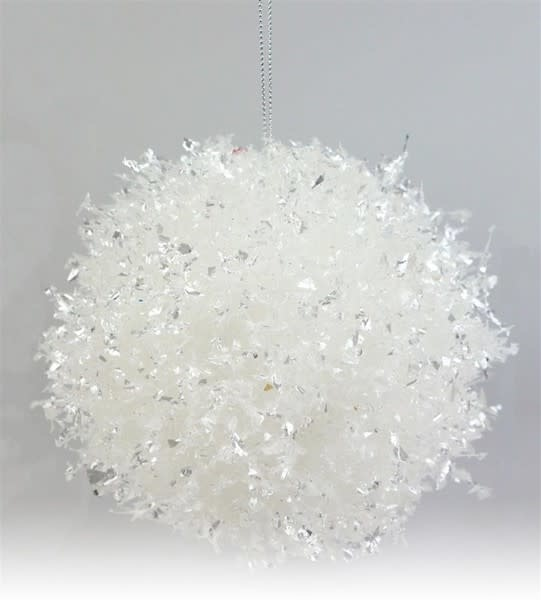 Snowball Tinsel Ornament (2-Sizes)