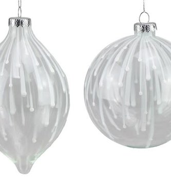 Glass Raindrop Ornament