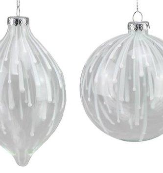 Glass Raindrop Ornament