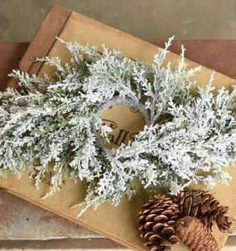 """24"""" Snowy Cedar Centerpiece"""