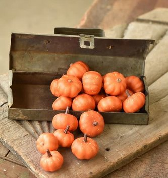 Mini Orange Speckled Pumpkins