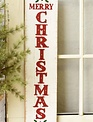 """24"""" Merry Christmas Holly Sign"""