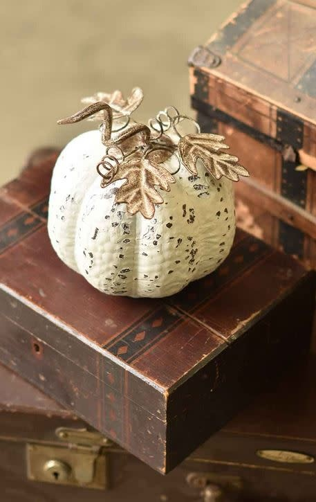 Metal First Frost Pumpkin