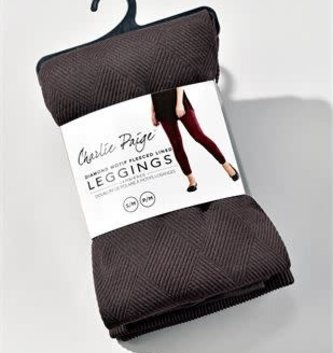 Fleece Lined Leggings By: Charlie Paige (10 Colors)