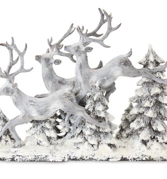 Leaping Deer in Forest