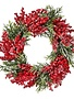"""24"""" Frosted Berry Spruce Wreath"""