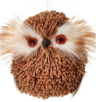 """3"""" Mini Fur Owl Ornament"""