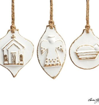 Porcelain Inspirational Ornament (3-Styles)