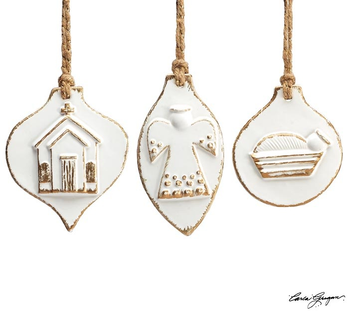Porcelain Inspirational Ornament (3-Styles)