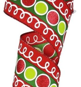 Whimsical Glitter Loop Ribbon