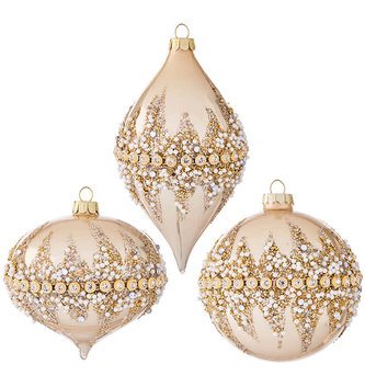 Gold Beaded and Pearl Ornament (3-Styles)