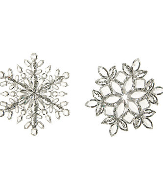 "5"" Shimmer Snowflake Ornament (2-Styles)"