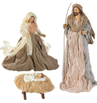 3 Piece Linen Holy Family