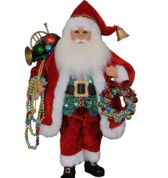 Karen Didion Multicolor Beaded Santa