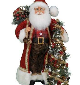 Karen Didion Lighted Woodland Pine Santa