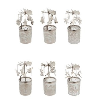 Spinning Glass Votive Holder (6-Styles)