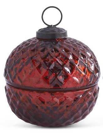 Mercury Glass Candle With Lid (2-Styles)