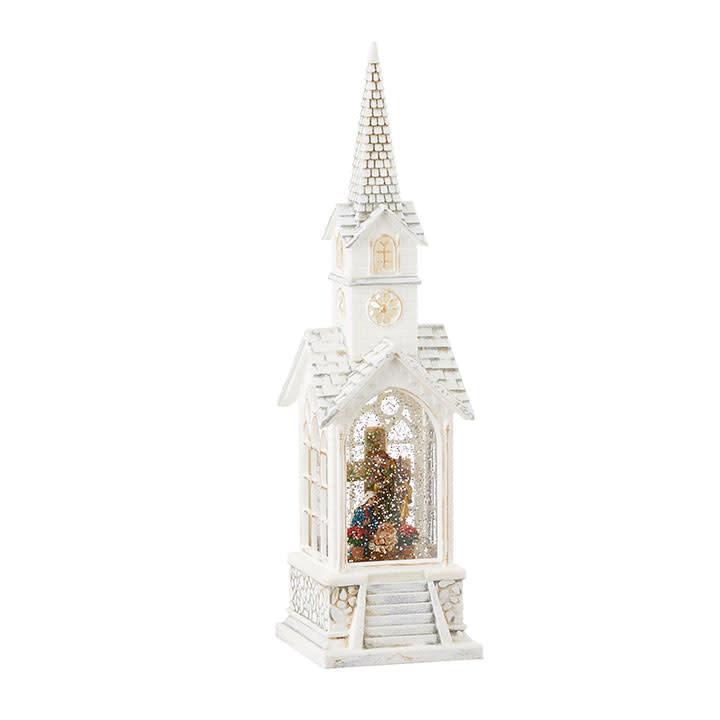 "15.5"" Holy Family Musical Lighted Church Snow Globe"