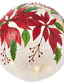 "7"" Poinsettia Lighted Sphere"