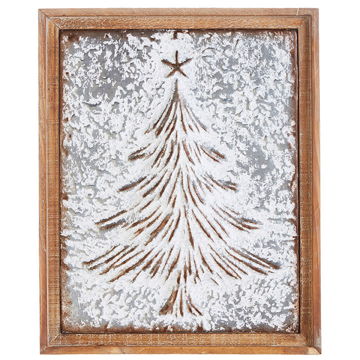 Framed Embossed Christmas Tree Art