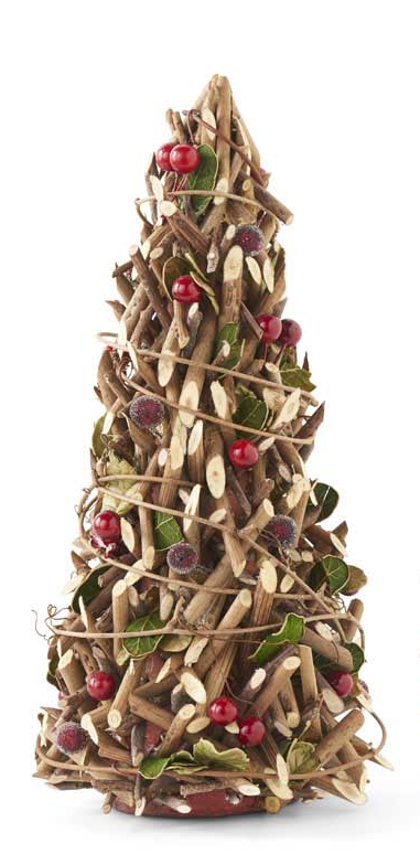 Leaf and Berry Twig Cone Tree (2-Sizes)