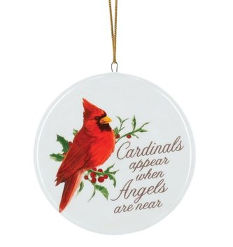 Cardinals Appear Disk Ornament