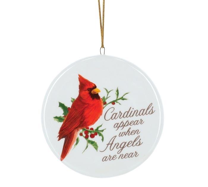Cardinals Appear Disk Ornament