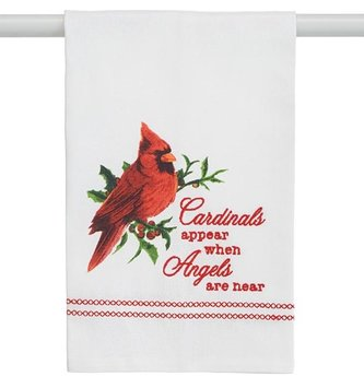 Cardinals Appear Tea Towel