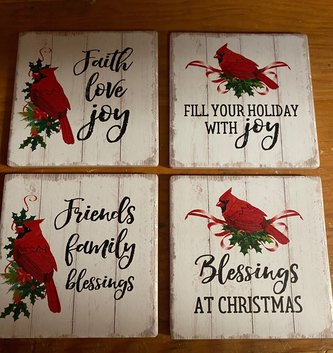 Set of 4 Cardinal Coasters