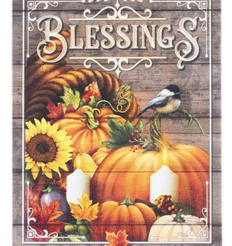 LED Tabletop Fall Blessings Canvas