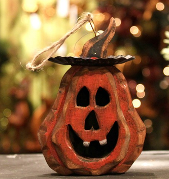 Small Hanging Jack-O-Lantern