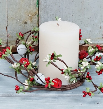 Christmas Jingle Bell Candle Ring