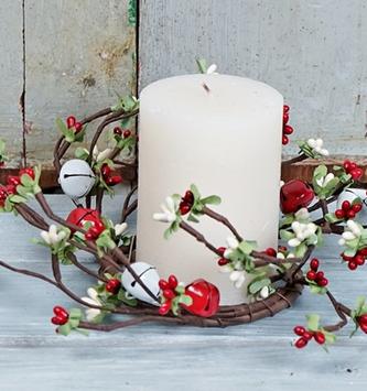 Christmas Jingle Bell Candle Ring