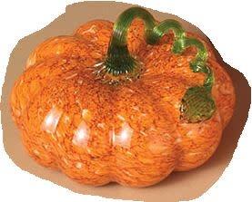 """6.7"""" Hand Blown Glass Pumpkin (3-Styles)"""
