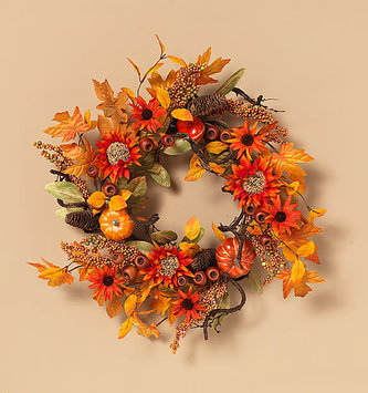 "24"" Pumpkin Harvest Wreath"