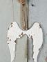 Distressed Metal Angel Wing Ornament