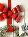 Holiday Bow Metal Wreath Hanger