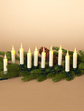 Set of 10 LED Clip on Taper Candles