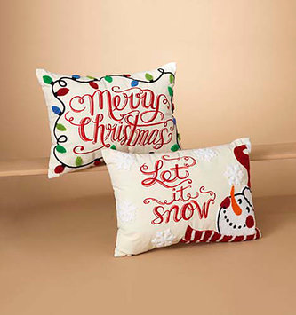Embroidered Christmas Pillow (2-Styles)