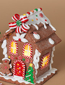 Lighted Clay Ginger Bead House (3-Styles)