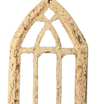 Golden Distressed Church Window Ornament